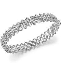 Roberto Coin - 18k White Gold New Barocco Diamond Bracelet - Lyst