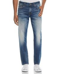 True Religion - Geno Straight Slim Fit Jeans In Jetset Blue - Lyst