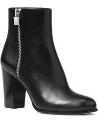 MICHAEL Michael Kors - Women's Margaret Leather High Heel Booties - Lyst