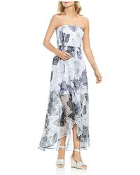 Vince Camuto - Smocked Island Floral Maxi Dress - Lyst