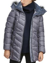 Marc New York - Shirley Hooded Faux Fur Trim Parka - Lyst