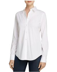 Theory - Top - Tenia Luxe Stretch Cotton - Lyst