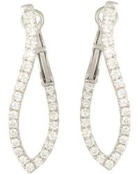 Frederic Sage - 18k White Gold Large Abstract Diamond Hoop Earrings - Lyst