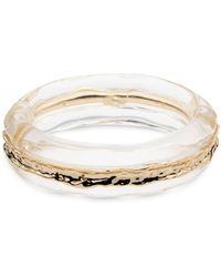 Alexis Bittar - Brass Inset Hinge Bangle Bracelet - Lyst