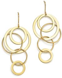 Bloomingdale's - 14k Yellow Gold Cascading Circle Earrings - Lyst
