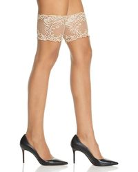 Natori - Silky Sheer Lace Top Thigh - Highs - Lyst