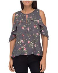 B Collection By Bobeau - Pamela Cold-shoulder Ruffle Top - Lyst