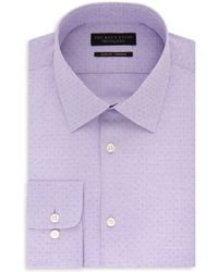 Bloomingdale's - Micro Squares Slim Fit Stretch Dress Shirt - Lyst