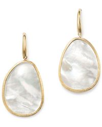 Marco Bicego - 18k Yellow Gold Lunaria Mother-of-pearl Drop Earrings - Lyst
