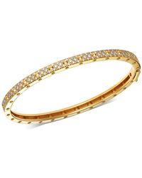 Roberto Coin - 18k Yellow Gold Symphony Pois Moi Diamond Hinged Bangle Bracelet - Lyst