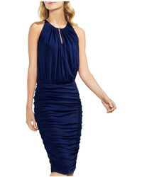 Vince Camuto - Keyhole Ruched Dress - Lyst