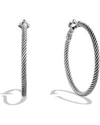 David Yurman | Cable Classics Large Hoop Earrings | Lyst