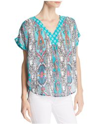 Tolani - Mixed Print High/low Top - Lyst