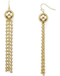 Aqua - Multi-chain & Ball Drop Earrings - Lyst