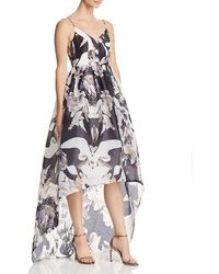 Bariano - Printed Organza Gown - Lyst