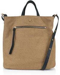 Kooba - Bolivia Reversible Leather & Linen Tote - Lyst