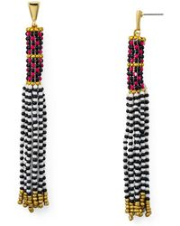 Rebecca Minkoff - Beaded Tassel Earrings - Lyst
