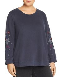 Lucky Brand - Embroidered Floral Sweatshirt - Lyst