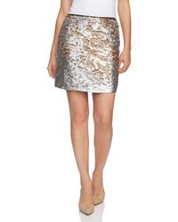1.STATE - Matte Sequin Mini Skirt - Lyst