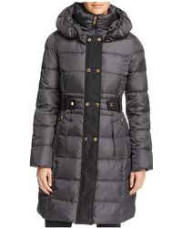 Via Spiga - Contrast Placket Puffer Coat - Lyst