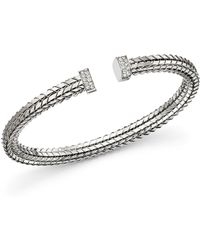 Roberto Coin - 18k White Gold Diamond Bracelet - Lyst