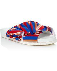 Joshua Sanders - Women's Ruffle Pool Slide Sandals - Lyst