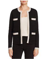 C By Bloomingdale's - C By Bloomingdales Cashmere Contrast-trim Jacket - Lyst
