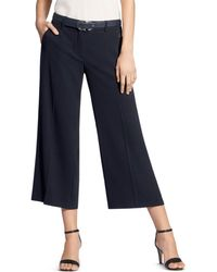 Basler - Belted Wide-leg Cropped Trousers - Lyst