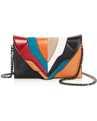 Elena Ghisellini - Selina Color Block Leather Clutch - Lyst