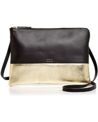 Alice.D - Metallic Color Block Leather Crossbody - Lyst