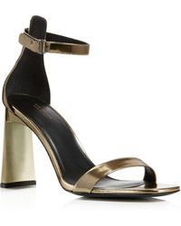 Via Spiga - Women's Faxon Metallic Leather High Heel Sandals - Lyst