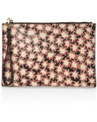 Whistles | Star Print Leather Wristlet | Lyst