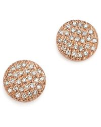 Dana Rebecca Diamond Lauren Joy Medium Earrings In 14k Rose Gold