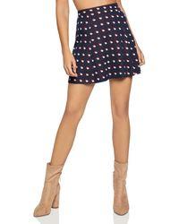 BCBGeneration - Double Dot Mini Skirt - Lyst