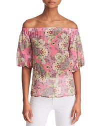 Bailey 44 - Tune In Floral Paisley Off-the-shoulder Top - Lyst