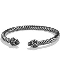 David Yurman - Renaissance Bracelet With Black Diamonds In Silver - Lyst