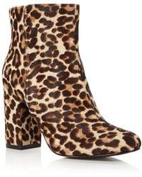 Charles David - Studio Leopard Fur Zip Bootie - Lyst