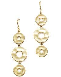 Ippolita - 18k Yellow Gold Sensotm Linear Disc Earrings - Lyst