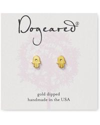Dogeared - Hamsa Stud Earrings - Lyst