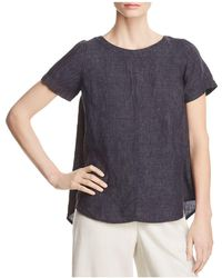 Eileen Fisher - Short Sleeve Linen Top - Lyst