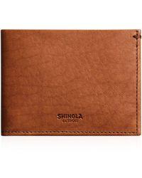 Shinola - Slim Bifold Wallet - Lyst
