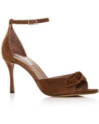 136e94ec3d5 B Brian Atwood Evening Sandals Condesa Fringe High Heel in Metallic ...