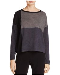 Eileen Fisher - Color-block Collection Merino Wool Jumper - Lyst