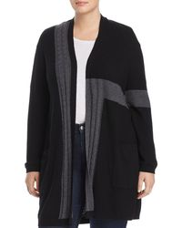 Vince Camuto Signature - Ribbed Color Block Cardigan - Lyst