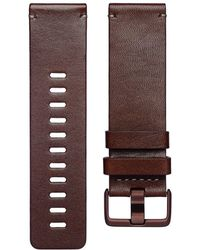 Fitbit - Versa Leather Band - Lyst
