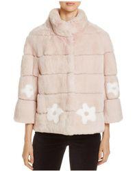 Maximilian | Rabbit Fur Floral Jacket | Lyst