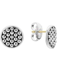Lagos - Sterling Silver Bold Caviar Button Stud Earrings - Lyst