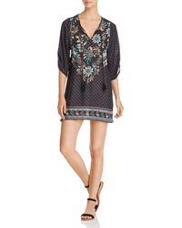 Tolani - Embroidered Tunic Dress - Lyst
