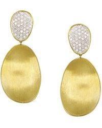 Marco Bicego | Diamond Lunaria Two Drop Large Earrings In 18k Gold | Lyst