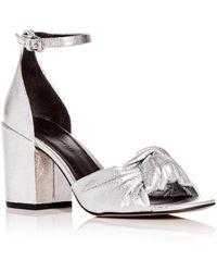 904136d7c1d Rebecca Minkoff Women s Capriana Block-heel Sandals in White - Lyst